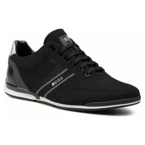 Sneakersy BOSS - Saturn 50432830 10227355 01 Black 001 Hugo Boss