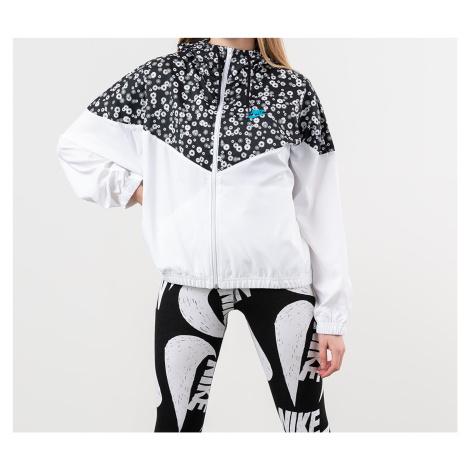 Nike Sportswear Heritage Woven Floral Jacket Black/ White/ Laser Blue