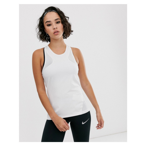Nike Training tank with mesh in white