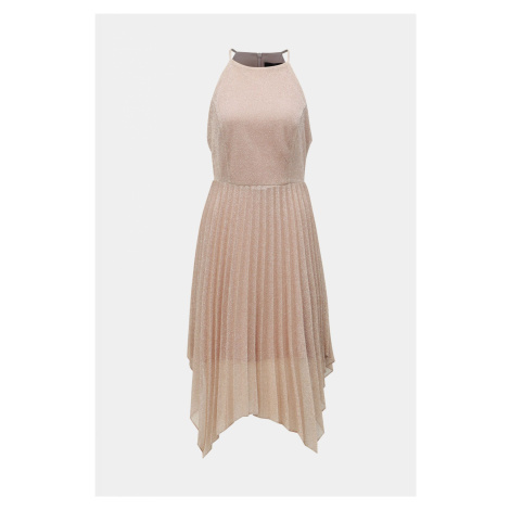 Ciemno różowa plisowana sukienka na ramiączkach Dorothy Perkins