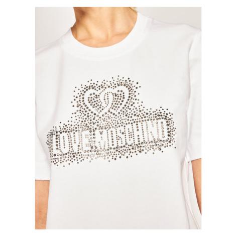LOVE MOSCHINO Sukienka codzienna W5A0214E 2139 Biały Regular Fit