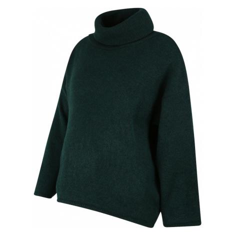 MAMALICIOUS Sweter ciemnozielony Mama Licious