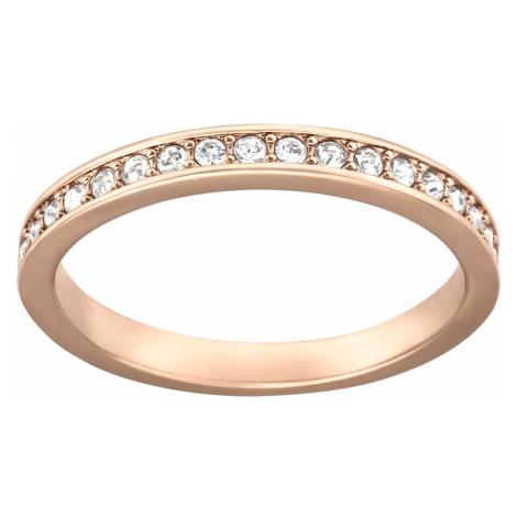 Pierścionek Rare, biały, w odcieniu różowego złota Swarovski