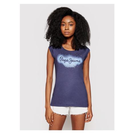 Pepe Jeans T-Shirt Camila PL504827 Granatowy Regular Fit