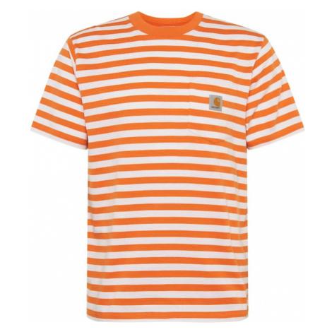 Carhartt WIP Koszulka pomarańczowy / biały