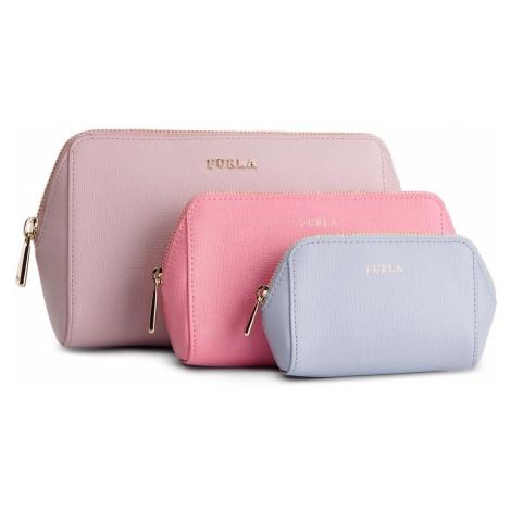 Zestaw kosmetyczek FURLA - Electra 1014225 E EL95 B30 Camelia e/Flamingo f/Violetta f