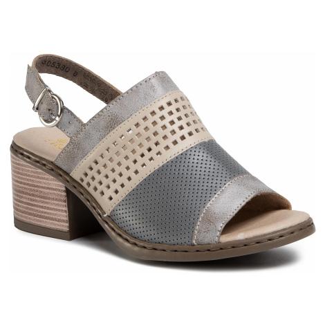 Sandały RIEKER - V0575-40 Grau Kombi