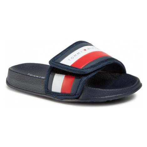 Tommy Hilfiger Klapki Maxi Velcro Pool Slide T3B0-30761-0739 M Granatowy