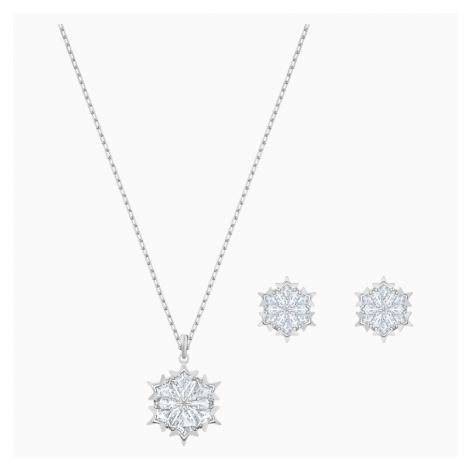 Zestaw Magic Snowflake, biały, powlekany rodem Swarovski