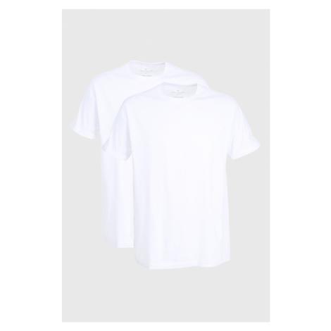 Dwupak białych T-shirtów Tom Tailor