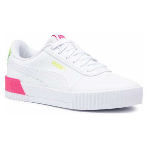 Sneakersy PUMA - Carina Vivid Jr 374695 01 Puma White/Puma White