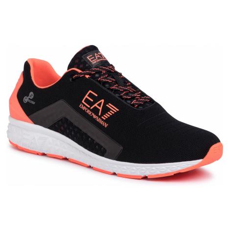 Sneakersy EA7 EMPORIO ARMANI - X8X053 XK044 M538 Black/Orange Fluo
