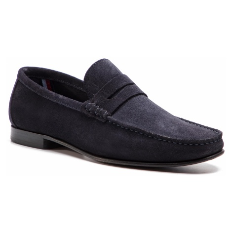 Mokasyny TOMMY HILFIGER - Core Suede Loafer FM0FM02106 Midnight 403