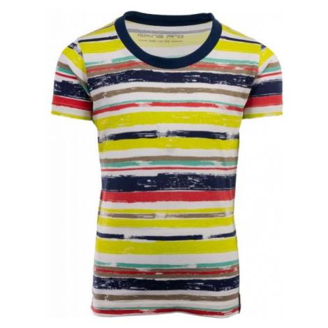 ALPINE PRO NEPRO żółty 140-146 - Koszulka dziecięca