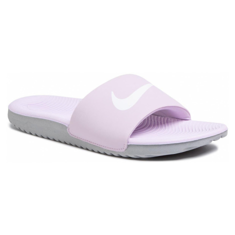 Klapki NIKE - Kawa Slide (GS/PS) 819352 501 Iced Lilac/White/Patricle Grey