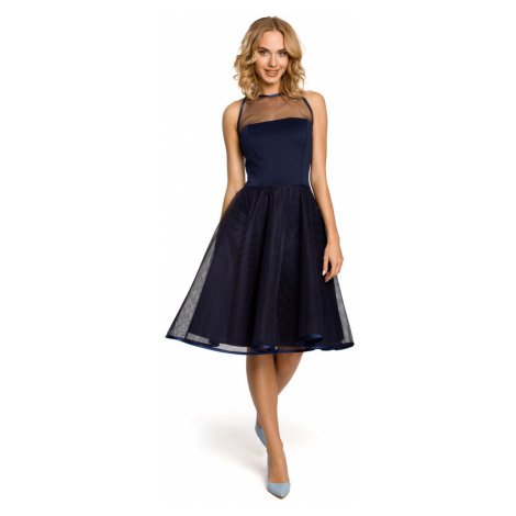 Made Of Emotion Woman's Dress M148 Navy Blue