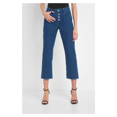 Jeansy cropped straight Orsay