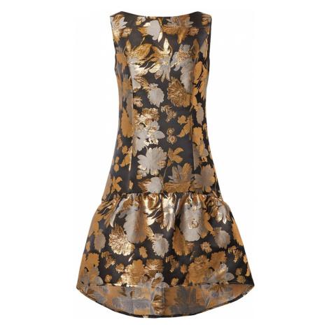 Chi Chi London Sukienka 'Dania' czarny / złoty / srebrno-szary