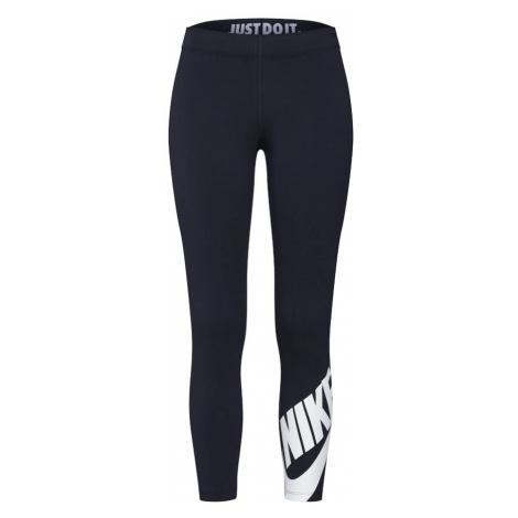 Nike Sportswear Legginsy 'Legasee Futura' czarny / biały