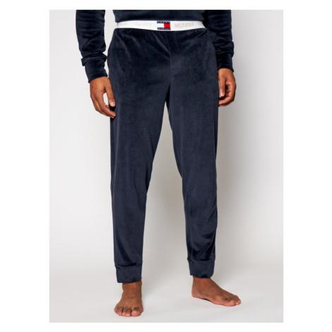 Tommy Hilfiger Spodnie piżamowe Track Velour UM0UM01936 Granatowy