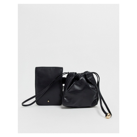 Urbancode real leather and suede belt bag