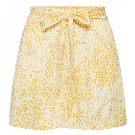 VILA Spodnie 'VISHAKINA IBERIS RW SHORTS' żółty / biały