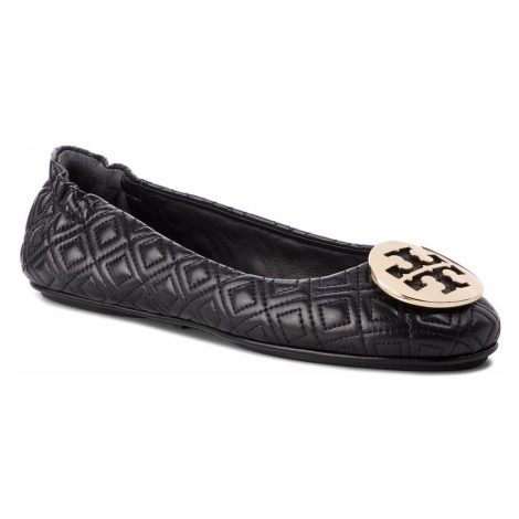 Baleriny TORY BURCH - Quilted Minnie 50736 Perfect Black/Gold 002