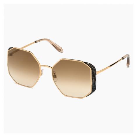 Okulary przeciwsłoneczne Moselle Octogonal, SK238-P 30G, brązowe Swarovski