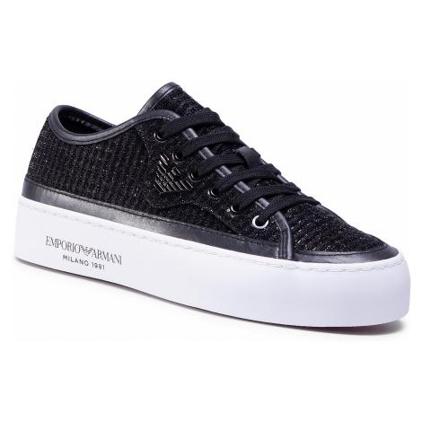 Sneakersy EMPORIO ARMANI - X3X109 XM519 K001 Black/Black