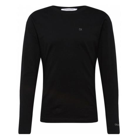 Calvin Klein Jeans Koszulka 'CKJ EMBROIDERY LS REG TEE' czarny