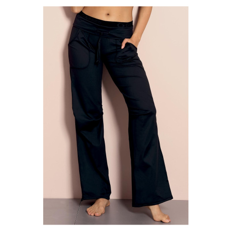 Czarne damskie spodnie fitness