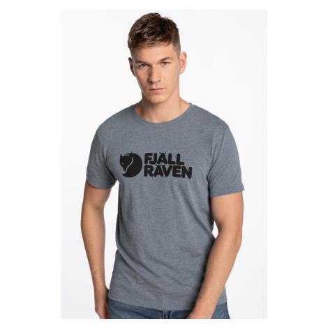 Koszulka Fjallraven Logo T-Shirt M F87310-520-999 Uncle Blue-Melange Fjällräven