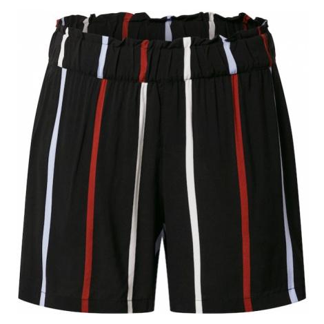 TOM TAILOR DENIM Spodnie czerwony / czarny / biały