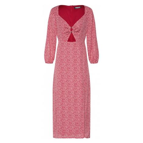 Fashion Union Sukienka 'LAYNEY' czerwony / biały