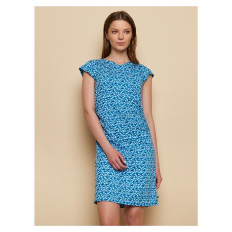 Tranquillo niebieski sukienka ze wzorami