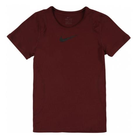 NIKE Koszulka funkcyjna czerwone wino / czarny