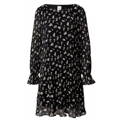 ICHI Sukienka 'PATRICIA' czarny / beżowy