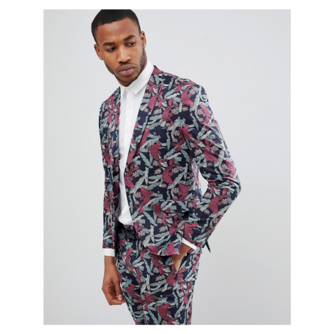Jack & Jones Premium Slim Fit Blazer With All Over Print