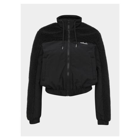 Czarna kurtka ze sztucznym futerkiem TALLY WEiJL