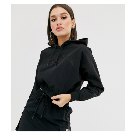 Fila crop hoodie with tonal embroidered logo