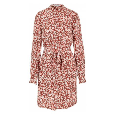 PIECES Sukienka koszulowa biały / czerwony