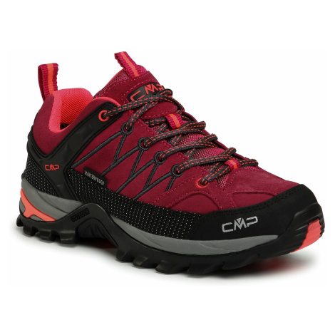 Trekkingi CMP - Rigel Low Wmn Trekking Shoes Wp 3Q13246 Magenta/Antracite 06HF