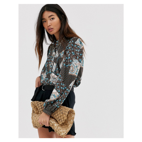 Only western paisley shirt
