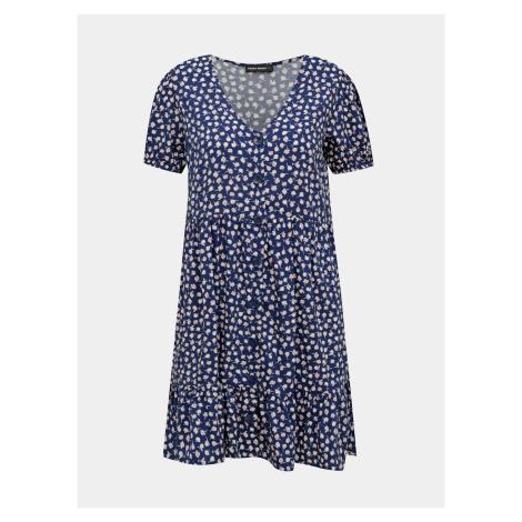 Niebieska sukienka w kwiaty TALLY WEiJL