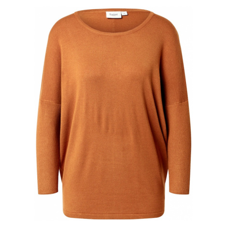 SAINT TROPEZ Sweter 'Mila' brązowy