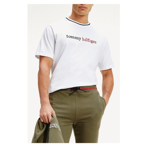 Tommy Hilfiger biała koszulka męska CN SS Tee Logo White