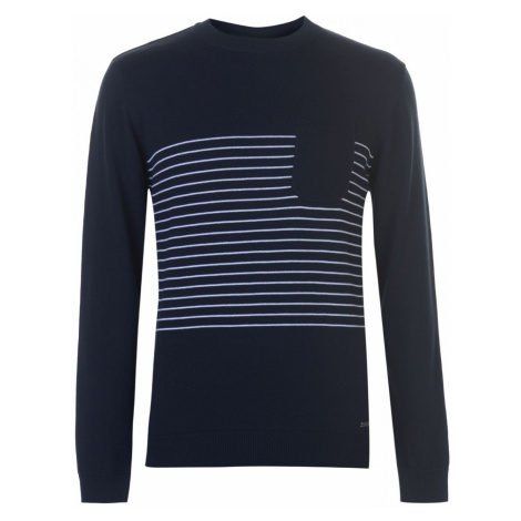 Pierre Cardin Striped Pocket Knit Mens