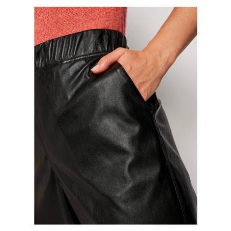 MAX&Co. Spodnie skórzane Danni 67849720 Czarny Regular Fit