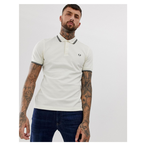 Fred Perry twin tipped polo in cream