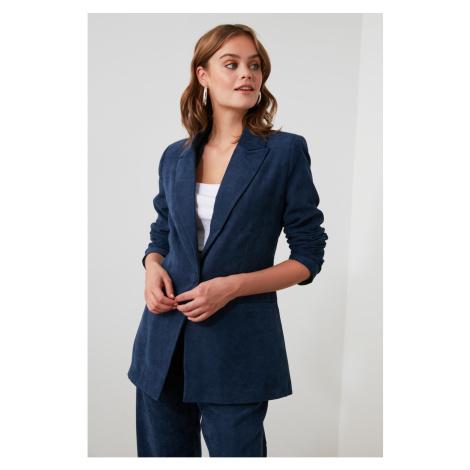 Trendyol Indigo Buttoned Jacket
